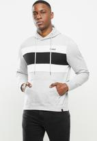 SOVIET - Noble pull over hooded sweat top - grey