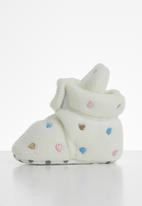 POP CANDY - Baby girls heart booties - milk