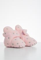 POP CANDY - Baby girls star booties - light pink