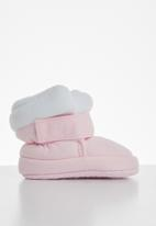 POP CANDY - Baby girls boots - pink & white