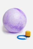 Sixth Floor - Marble swirl yoga ball - purple