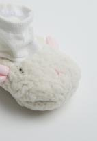 POP CANDY - Baby girls character slippers - off white