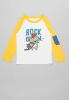 POP CANDY - Boys rock tee - white & yellow