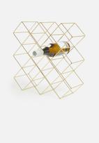 Excellent Housewares - Geo wine holder - gold