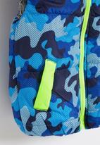 POP CANDY - Boys camo sleeveless bomber - blue & yellow