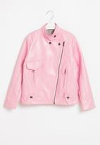 Rebel Republic - Girls biker jacket - pink