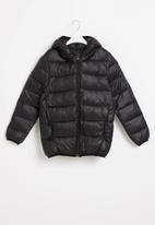 Rebel Republic - Tween boys hooded bomber jacket - black