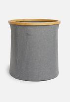 Sixth Floor - Bamboo laundry basket round - grey