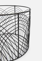 Sixth Floor - Rae wire basket - black