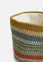 Sixth Floor - Wool stripe basket - multi