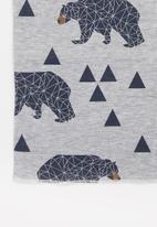 POP CANDY - Boys faux fur polar bear beanie & snood set - grey
