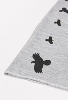 POP CANDY - Boys faux fur eagle beanie & snood set - grey