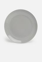 Jenna Clifford - Embossed lines dinner set 16 piece - light grey