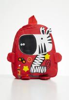 POP CANDY - Boys zebra backpack - red