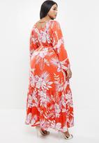 AMANDA LAIRD CHERRY - Plus sand dress - red & white