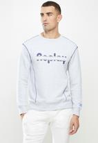 Replay - Replay raised print crew fleece - grey
