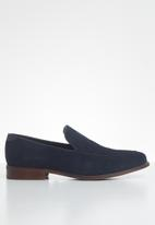 POLO - Fred suede minimalist loafer - navy