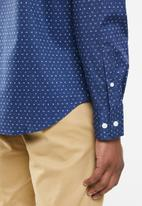 Nautica - Blue depths print shirt - navy