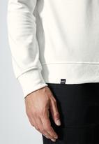Superbalist - Brewer branded pullover crew neck sweat - ecru