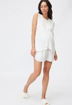 Cotton On - Sleep recovery maternity tank - soft grey marle