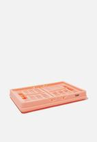 Typo - Small foldable storage - peach candy