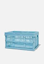 Typo - Midi foldable storage - denim blue