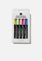 Typo - Make your mark permanent marker 5 pack- pastels