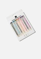 Typo - Smooth scribbler gel pen 7 pack - multi
