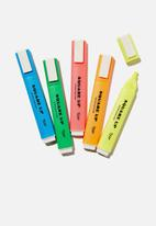 Typo - Square up highlighter 5 pack - brights