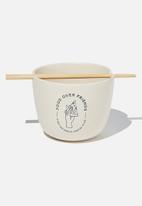 Typo - Feed me bowl - food over friends - white
