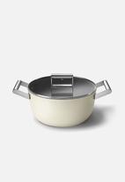 smeg - Casserole 24cm - cream