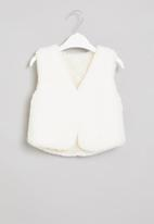 POP CANDY - Girls sleeveless faux fur coat - cream