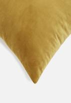 Sixth Floor - Lure cushion cover - mustard