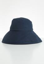 Freya Hats  - Maya wide brim bucket hat - navy