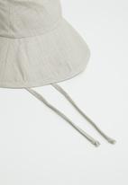 Freya Hats  - Maya wide brim bucket hat - stone