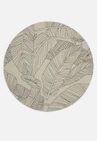 Hertex Fabrics - Oasis round rug -  linen
