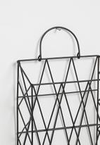 Sixth Floor - Stationary holder wall rack - black