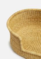 Bloomza - Woven pet basket - textured natural