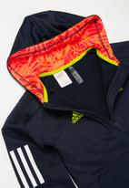adidas Originals - B.a.r full zip hooded track top - navy & yellow
