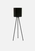 Sixth Floor - Lana planter with stand - black