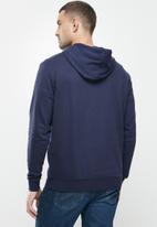 Lee  - Faded denim hooded sweat - navy