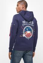 Alpha Industries - Mars hoodie - navy