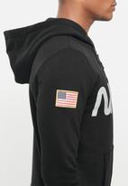 Alpha Industries - Nasa zip hoodie - black