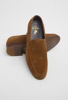 POLO - Fred suede minimalist loafer - brown
