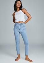 Cotton On - High rise cropped skinny jean - flynn blue