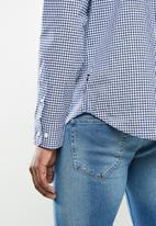 Nautica - Gingham plaid shirt - navy