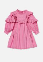 Cotton On - Deonne long sleeve dress - pink