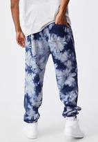 Factorie - Relaxed tie dye trackpant - navy blue tie dye