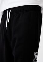 Factorie - Relaxed graphic trackpant - black