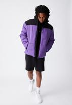 Factorie - Puffer jacket - purple & black